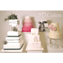 3, 4 or 5 Tier Wedding Cake - Choice of 10 Designs *CHRISTMAS SALE*