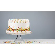 Small, Medium or Large Sprinkle Birthday Cake