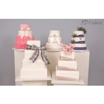 3, 4 or 5 Tier Wedding Cake - Choice of 10 Designs
