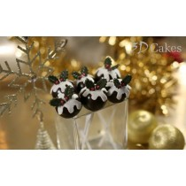 6 Chocolate Christmas Pudding Cake Pops