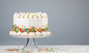 Sprinkle Birthday Cake in a Choice of Four Sizes