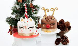 Christmas Unicorn or Red Nosed Reindeer Cake