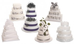 3, 4 or 5 Tier Wedding Cake; Choice of 6 Designs - NEW PURE COLLECTION