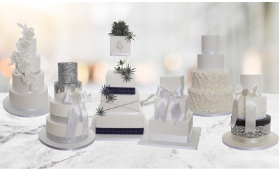 3, 4, 5 or 6 Tier Classic Wedding Cake; Choice of 6 Designs - INTRODUCTORY SPECIAL PRICE