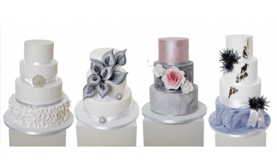 Deluxe 3, 4 or 5 Tier Wedding Cake - Choice of 8 Designs