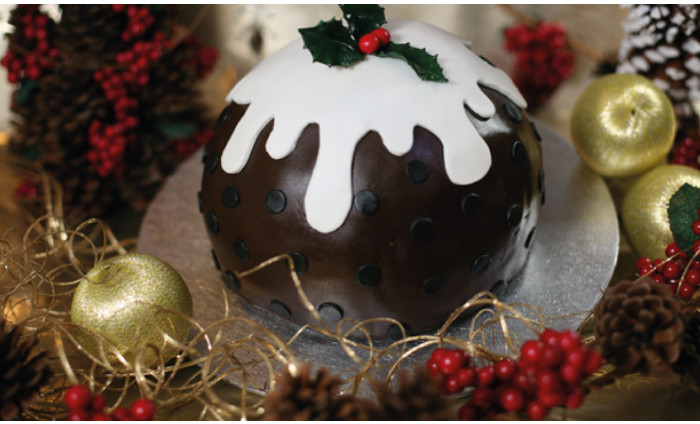 Christmas Themed Cake in a Choice Of Two Styles