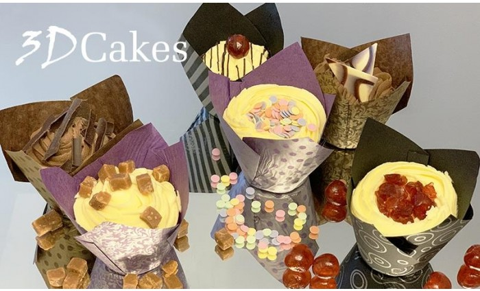 6 Gourmet Cupcakes - From 3D Cakes